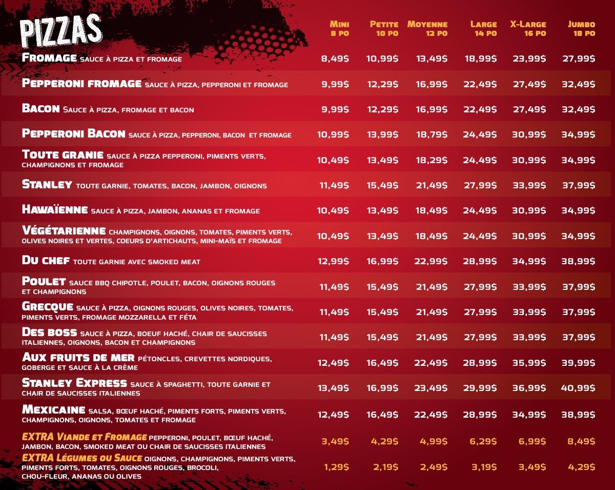Le stanley express menu livraison resto bar chez stanley for Jardin lee menu livraison